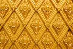 Thailand gjorde randig den guld- väggen arkivbild