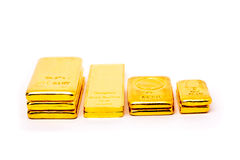 Thailand gold bullian. Four pattern of Thailand gold bullian Royalty Free Stock Photo