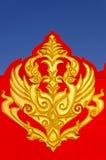 Thailand gold designs Gable Stock Photography