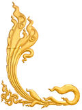 Thailand Gold Pattern Royalty Free Stock Image