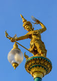 Thailand golden angel statue. Royalty Free Stock Images