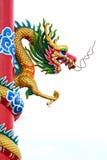 Thailand Golden dragon statue. Royalty Free Stock Photos