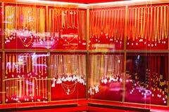 Thailand golg market. Thai Shop showcases beautiful gold Stock Photography