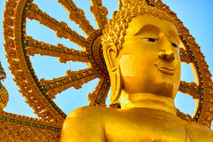 Thailand gränsmärke Den stora Buddhatemplet Buddismreligion Tou Royaltyfria Foton
