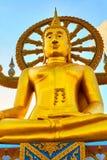 Thailand gränsmärke Den stora Buddhatemplet Buddismreligion Tou Arkivfoto