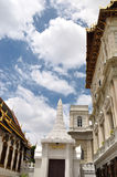 Thailand grand palace and cloudy sky Stock Image