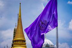 Thailand Grand Palace National Flag stock photo