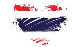 Thailand grunge flag in heart shape Stock Image