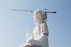 Thailand Guan Yin statue under construction Royalty Free Stock Photo