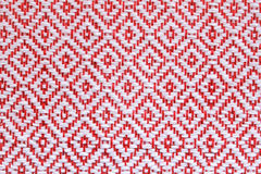 Thailand Hand-woven Fabric Red Square Royalty Free Stock Photo