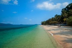 Thailand has a sandy beach. Beautiful sea, quiet In Trat Province royalty free stock photography