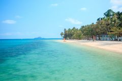 Thailand has a sandy beach. Beautiful sea, quiet In Trat Province royalty free stock photo