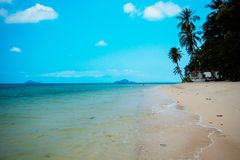 Thailand has a sandy beach. Beautiful sea, quiet In Trat Province stock photography
