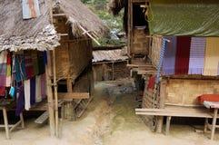 Thailand, het dorp, huis Stock Afbeeldingen