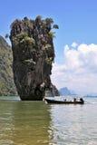Thailand. Het Eiland James Bond Stock Afbeeldingen