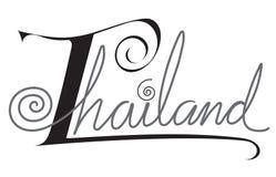 Thailand het ontwerp van het brievenwoord Royalty-vrije Stock Foto