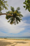 Thailand. Het overzees van Andaman. Phi Phi eiland. Het strand van het zand Royalty-vrije Stock Foto