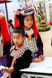 Thailand hill tribe girl and boy with traditional costume Royalty Free Stock Photo