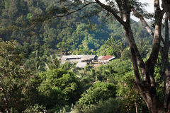 Thailand Hilltribe village among the forest Stock Photo