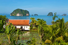Thailand holiday cottages. Holiday cottages at the Andaman Sea coast of Thailand Royalty Free Stock Image