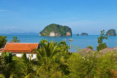 Thailand holiday cottages. Holiday cottages at the Andaman Sea coast of Thailand Stock Photography