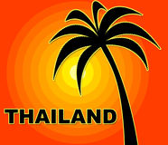 Thailand Holiday Indicates Go On Leave And Asia Royalty Free Stock Photography