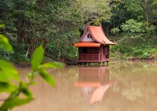 Thailand Home The smaller built above the water in the swamps. Thailand Home The smaller built above the ground water in the swamps. There is a reflection of Stock Images