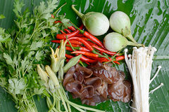 Thailand homegrown vegetables Royalty Free Stock Photography