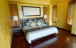 Thailand hotel room. View of a hotel room in Thailand Royalty Free Stock Photography