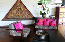 Thailand-Hotelerholungsortlobby Stockfotografie