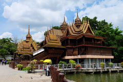 Thailand houses in Temple Royalty Free Stock Photography