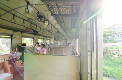 Thailand: Inside of train Car Stock Image