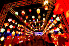 Thailand International Lantern Festival Stock Images