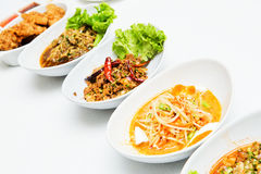 Thailand Isaan food. Thailand Isaan food beautifully put royalty free stock images