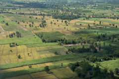 THAILAND ISAN BURI RAM LANDSCAPE FIELDS Royalty Free Stock Photography