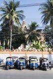 THAILAND ISAN KHORAT WAT SAKAE TUK TUK. The wat sakae temple with tuk tuk parking in front the city Khorat or Nakhon Ratchasima in Isan in Noertheast Thailand Royalty Free Stock Image