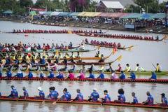 THAILAND ISAN PHIMAI LÅNGT FARTYGLOPP Arkivfoto