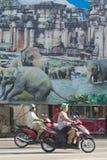 THAILAND ISAN SURIN ELEFANTFOLK arkivfoto