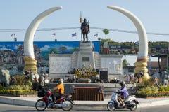 THAILAND ISAN SURIN STADSMONUMENT fotografering för bildbyråer