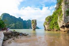 Thailand - 15 January 2017 :: James bond island landmark of Phan Stock Photos