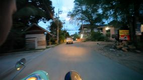 Thailand, 16 july 2014 Motion Thai night street on stock footage