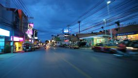 Thailand, 16 july 2014 Motion Thai night street on stock video