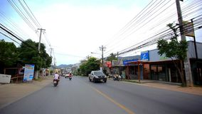 Thailand, 19 july 2014 Motion Thai street on stock footage
