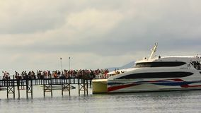 THAILAND 2014 JULY 15. Tourists arrived on the stock video footage