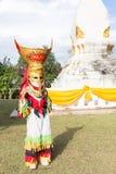Thailand 26 Juni: De maskers van Phitakhon van het Phitakhonfestival Royalty-vrije Stock Foto