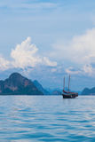Thailand junk boat cruise. Traditional junk boat cruise in Thailand Royalty Free Stock Image