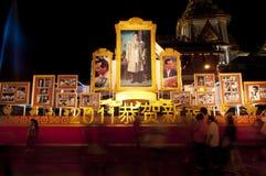 Thailand-König Image im chinesischen neues Jahr celebratio Stockfotos
