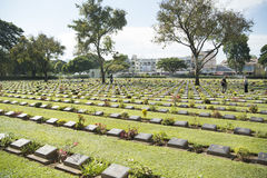 THAILAND KANCHANABURI ALLIED WAR CEMETERY Stock Photography