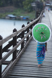 THAILAND KANCHANABURI SANGKHLABURI TRÄBRO Royaltyfri Foto