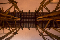 THAILAND KANCHANABURI SANGKHLABURI WOODEN BRIDGE Stock Images